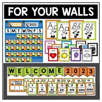 Panda Theme Classroom Decor Editable