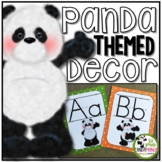 Panda Theme Classroom Decor Editable Labels and Name Tags