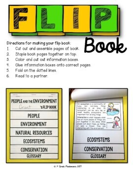 People and Their Environment A 1st Grade Social Studies FLIP Book