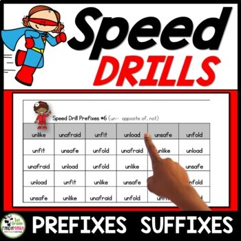 Prefixes and Suffixes Speed Drills