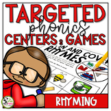 Rhyming Centers and Games Phonics Activities