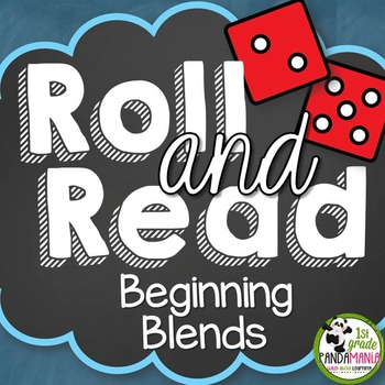 Roll and Read Beginning Blends Center Activities
