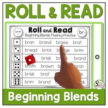 Roll and Read Beginning Blends Center Activities