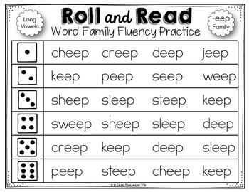 Roll and Read Long Vowel Word Families