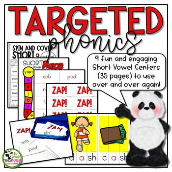 Short Vowels Centers and Games Phonics Activities