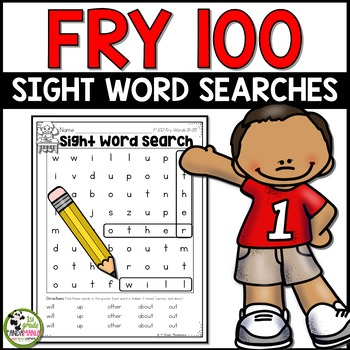 Fry Sight Words Word Searches for First 100 Fry Words
