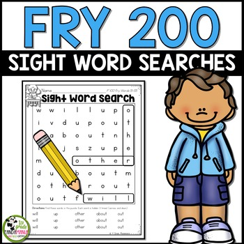 Sight Word Searches 200 Fry Words