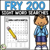 Fry Sight Words Word Searches for First 200 Fry Words