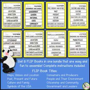 Social Studies FLIP Book Bundle 1st Grade