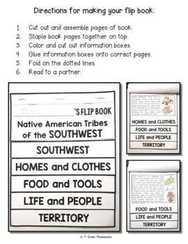Southwest Native American Tribes FLIP Book