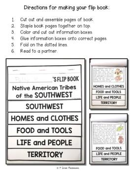 Native Americans Southwest Tribes FLIP Book