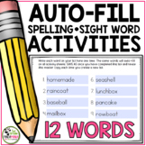 Spelling Activities For Any List of Words (Editable for 12 Words)