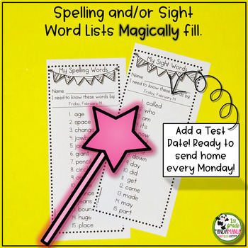 Spelling Activities For Any List of 15 Words (Editable)