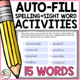 Spelling Activities For Any List of Words (Editable for 15 Words)