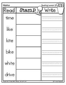 Spelling Read, Stamp, Write Centers Aligned with HMH 1st Grade