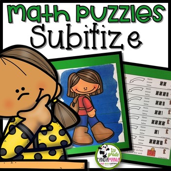 Subitizing Math Picture Puzzle Centers for K-2