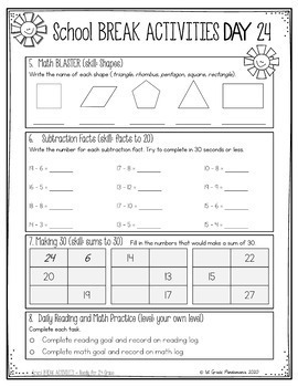 Summer Review Workbook 1st Grade (Common Core Aligned)