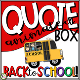 TpT Store Animated Quote Box Back to School Banner