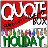 TpT Store Animated Quote Box Christmas or Holidays GIF Banner