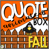 TpT Store Animated Quote Box Fall or Autumn Banner