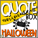 TpT Store Animated Quote Box Halloween GIF Banner