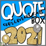 TpT Store Animated Quote Box New Year GIF Banner