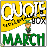 TpT Store Animated Quote Box St. Patrick's Day GIF Banner