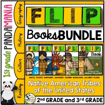 Native Americans Tribes of the United States FLIP Book Bundle