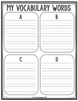Vocabulary Notebook K-1