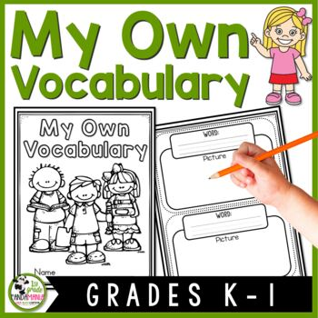 Vocabulary Notebook for Kindergarten and 1st Grade