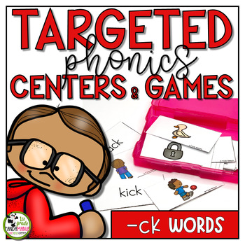 ck Words Centers and Games Phonics Activities