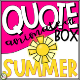 TpT Banner Animated Quote Box Summer GIF Banner