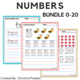 Tracing Number Worksheet 0-20 Bundle