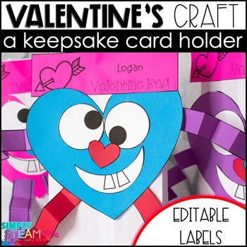 Valentine's Day Craft Treat Bags and Card Holders