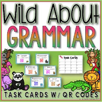 Grammar QR Code Task Cards