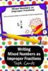 Mixed Numbers and Improper Fractions Task Cards, 4th Grade Fraction Review
