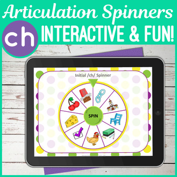 NO PRINT 'ch' Articulation Spinners - 'ch' In All Positions