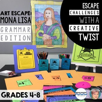 Art Escape: Mona Lisa (Grammar Edition) | Escape Room ...