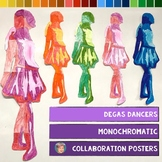 Edgar Degas Dancers: Monochromatic Collaboration Posters