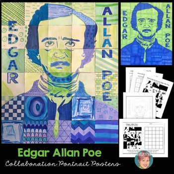 Edgar Allan Poe Collaboration Poster - Great for National Poetry Month