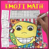 Emoji Math Fact Review Activity: Times Tables Coloring Pages