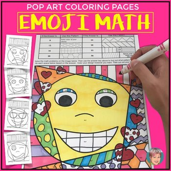 Emoji Math Facts: Times Tables Review Coloring Pages by Art ...