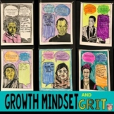 Growth Mindset Coloring Pages w/ Conversations about GRIT (Famous Failures)