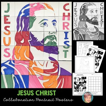 Jesus Christ Collaboration Poster | Great Christian Easter Activity