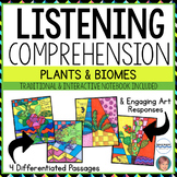 NONFICTION Art-infused Listening Comprehension Passages [Volume 2: BIOMES]