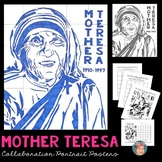 Mother Teresa Collaboration Poster - Nice Women's History