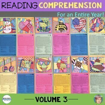 12 Nonfiction Reading Comprehension Vol. 3 - Great Back to School Activity