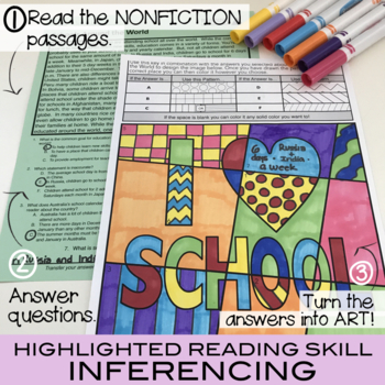 12 Nonfiction Reading Comprehension (Vol. 4) Summer Activities Included