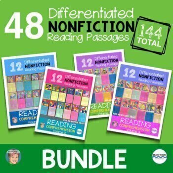 NONFICTION Reading Comprehension Passages and Questions - ALL YEAR BUNDLE