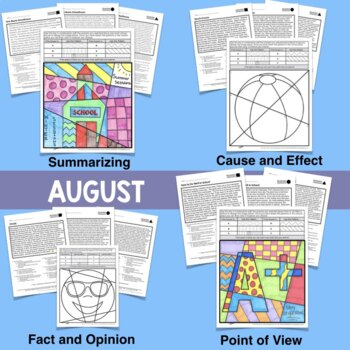 Reading Comprehension Passages and Questions BUNDLE (inc Back to School!)